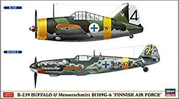 【中古】ハセガワ 1/72 フィンランド空軍 B-239 バッファロー & メッサーシュミットBf109G-6 プラモデル 02279