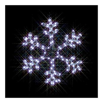 【中古】ジェフコム LEDルミネーション 連結タイプ LEDモチーフ 雪の結晶(小・白) SJ-C101W-N