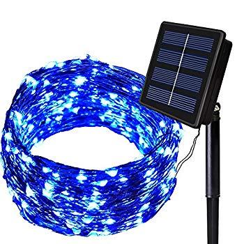 【中古】Solarmksソーラーイルミネーションライト 150LED ストリングライト ソーラー充電式 8発光モード 防水 ガーデンライト 屋外 パーティー クリスマ
