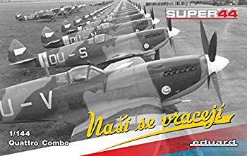 【中古】エデュアルド 1/144 スピットファイア Mk.IX PEパーツ付×4機セット EDU4432