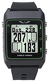 【中古】アサヒゴルフ ゴルフナビ GPS EAGLE VISION Watch3 時計型 EV-616 ブラック