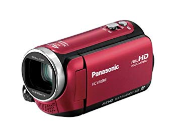 【中古】パナソニック デジタルハイビジョンビデオカメラ 内蔵メモリー8GB レッド HC-V100M-R