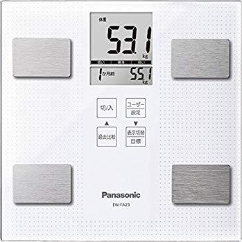 【中古】パナソニック 体重・体組成計 ホワイト EW-FA23-W