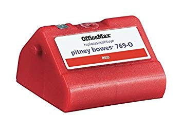 【中古】Pitney Bowes Ink Refill For PB Mail Station E700 / K707 Red by Pitney Bowes