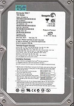 【中古】st3100011?a、4lh、TK、PN 9?W2072???175、FW 3.02、Seagate 100?gb Ide 3.5ハードドライブ