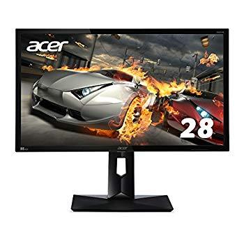 【中古】Acer ディスプレイ ゲーミングモニター CB281HKbmjdprx 28インチ/4K解像度/1ms/HDMI 2.0(HDCP2.2対応)/Gaming