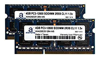【中古】Adamanta 8?GB ( 2?x 4gb )ノートパソコンのメモリアップグレードAlienware m17?X MLKゲームddr3?1600?MHz pc3???12800?cl11?SODIMM 2rx8?1.5?V