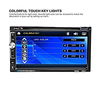 【中古】車DVD CDプレーヤー7?2?Din BluetoothタッチスクリーンラジオオーディオUSB iPod SD FM / AM、ruhiku GW