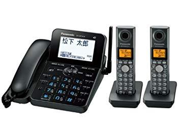 【中古】パナソニック RU・RU・RU デジタルコードレス電話機 子機2台付き ブラック VE-GP34DW-K