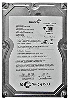 【中古】Seagate 3.5インチ内蔵HDD 640GB 7200rpm S-ATA/300 16MB ST3640323AS