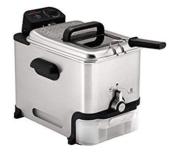 【中古】T-fal FR8000 Oil Filtration Ultimate EZ Clean Easy to clean 3.5-Liter Fry Basket Stainless Steel Immersion Deep Fryer 2.6-Pound Silver