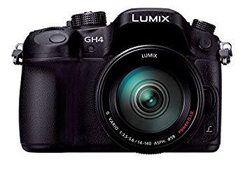 【中古】パナソニック ミラーレス一眼カメラ ルミックス GH4 レンズキット 標準ズームレンズ付属 ブラック DMC-GH4H-K