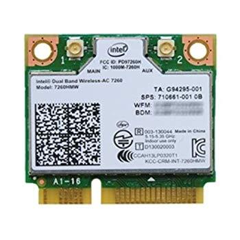 【中古】インテル Intel Dual Band Wireless-AC 7260 + Bluetooth 7260HMW 2x2 対応 Wi-Fi + Bluetooth 4.0 アダプター