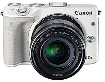 【中古】Canon ミラーレス一眼カメラ EOS M3 レンズキット(ホワイト) EF-M18-55mm F3.5-5.6 IS STM 付属 EOSM3WH-1855ISSTMLK