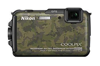 【中古】Nikon デジタルカメラ COOLPIX AW110 防水18m 耐衝撃2m ディープカムフラージュ AW110DGR