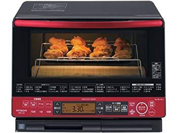【中古】日立 31L 過熱水蒸気オーブンレンジ ビッグオーブン ヘルシーシェフ MRO-LS8-R パールレッド