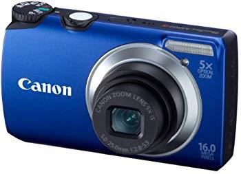 中古 Canon 倉庫 デジタルカメラ PSA3300ISブルー PSA3300IS 1600万画素 3.0型液晶 BL 即納送料無料! 光学5倍ズーム