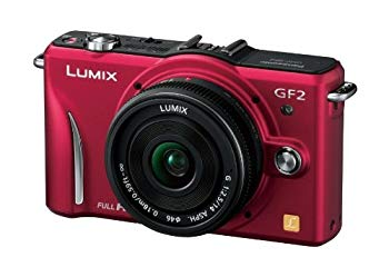 【中古】パナソニック ミラーレス一眼カメラ GF2 レンズキット(14mm/F2.5パンケーキレンズ付属) フルハイビジョンムービー一眼 ファインレッド DMC-GF2 C