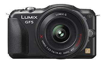 【中古】パナソニック ミラーレス一眼カメラ ルミックス GF5 レンズキット 電動ズームレンズ付属 エスプリブラック DMC-GF5X-K