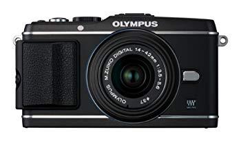 【中古】OLYMPUS ミラーレス一眼 PEN E-P3 レンズキット ブラック E-P3 LKIT BLK