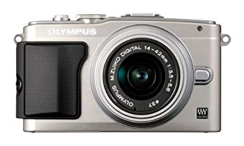 【中古】OLYMPUS ミラーレス一眼 PEN Lite E-PL5 レンズキット シルバー E-PL5 LKIT SLV