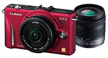 【中古】パナソニック デジタル一眼カメラ GF2 ダブルレンズキット(14mm/F2.5パンケーキレンズ、14-42mm/F3.5-5.6標準ズームレンズ付属) フルハイビジョ