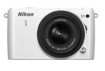 【中古】Nikon ミラーレス一眼 Nikon 1 S1 標準ズームレンズキット1 NIKKOR VR 10-30mm f/3.5-5.6付属 ホワイト N1S1HLKWH