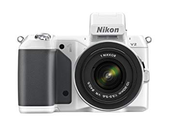 【中古】Nikon ミラーレス一眼 Nikon 1 V2 標準ズームレンズキット 1 NIKKOR VR 10-30mm f/3.5-5.6付属 ホワイト N1V2HLKWH
