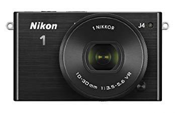 【中古】Nikon ミラーレス一眼 Nikon1 J4 標準パワーズームレンズキット ブラック J4HPLKBK