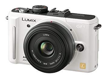 【中古】パナソニック デジタル一眼カメラ GF1 レンズキット(20mm/F1.7パンケーキレンズ付属) シェルホワイト DMC-GF1C-W