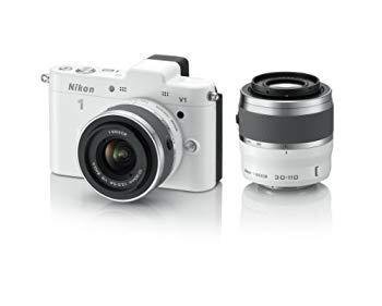 【中古】Nikon ミラーレス一眼カメラ Nikon 1 (ニコンワン) V1 (ブイワン) ダブルズームキット ホワイト N1 V1WZ WH
