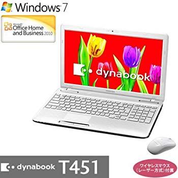 【中古】東芝 ノートパソコン dynabook T451/58EW(Office H&B搭載) PT45158EBFW