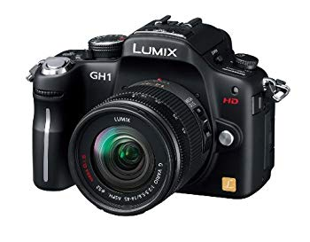 【中古】パナソニック デジタル一眼カメラ GH1 レンズキット コンフォートブラック DMC-GH1A-K