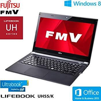 【中古】富士通 FMV UH55/K (Core i3/4G/500GB/13.3/Win8(64bit)/Office Home and Business 2013搭載) アルマイトシルバー FMVU55KS
