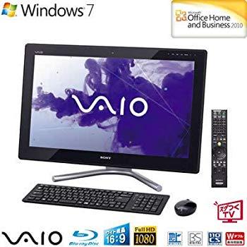 【中古】ソニー(VAIO) VAIO Lシリーズ (W7HP64/Ci5/24FHD/4G/BD/2T/WLAN/Office/TV) ブラック VPCL247FJ/BI