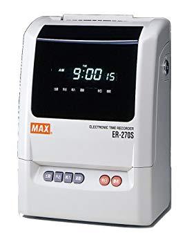【中古】マックス タイムレコーダ簡易集計機 ER-270S