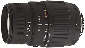 【中古】SIGMA 望遠ズームレンズ 70-300mm F4-5.6 DG MACRO ニコン用 フルサイズ対応 509552