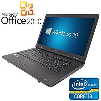【中古】【Microsoft Office2010搭載】【Win 10搭載】TOSHIBA L40/新世代 Core i3 2.13GHz/メモリ4GB/HDD160GB/DVDドライブ/大画面15.6インチ/無線LAN搭