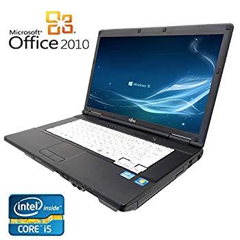 【中古】【Microsoft Office2010搭載】【Win 10搭載】富士通 A561/C/第二世代Core i5 2.5GHz/新品メモリ8GB/新品SSD 240GB/大画面15インチ/無線LAN搭載/