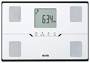 【中古】タニタ 体重 体組成計 ホワイト BC-768 WH スマホでデータ管理 立てかけ収納OK -