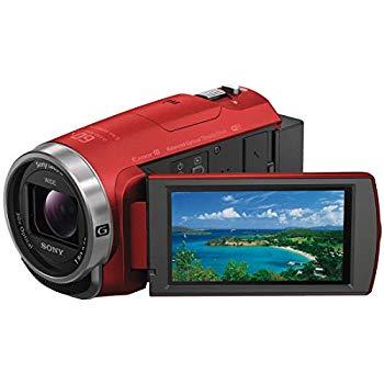 【中古】ソニー SONY ビデオカメラ Handycam HDR-CX680 光学30倍 内蔵メモリー64GB レッド HDR-CX680 R