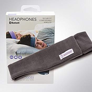 【中古】スリープフォン ワイヤレス (Bluetoothヘッドフォン) グレーMサイズ[55cm - 59cm] フリース (Fleece)素材