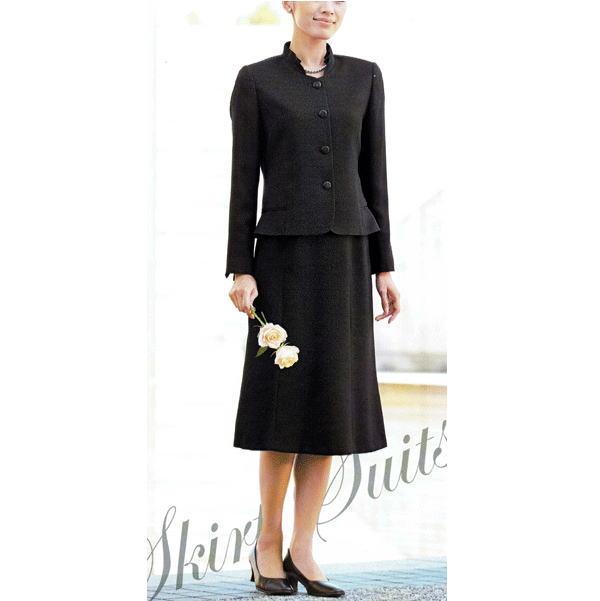 【送料無料】【代引無料】【Marguerite Roman】米沢織のブラックフォーマル・スーツ【9号】【11号】【13号】【15号】ミセス・シニアに♪30代40代50代60代のレディスファッション