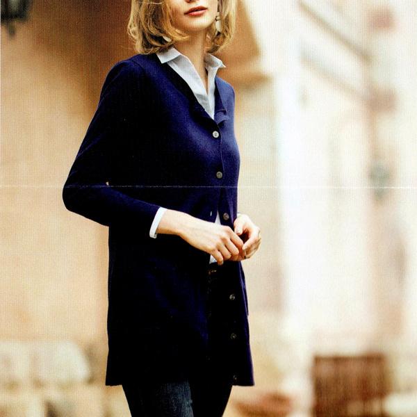 【送料無料】【CHIFFON】[Silk blend long knit] シルク混 ロングニット 【長袖】【M/L】ミセス・シニアファッション