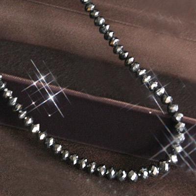 18k 70ct ブラックダイヤモンド ネックレス メンズ レディースで使える 男女兼用 男女兼用なので男性へのギフトにもおすすめ・ブラックダイヤモンドグラデーション ネックレスボリュームあるカットと輝き ホワイトゴールド 18金 k18wg