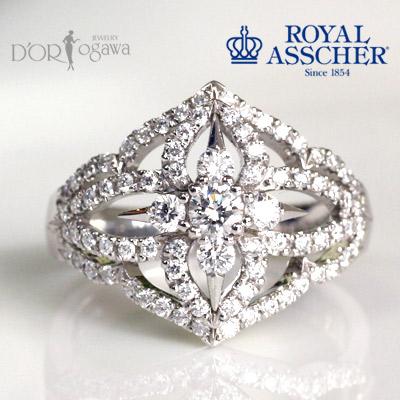 ロイヤルアッシャー リング 指輪 新品 正規品 《12号は在庫あり・》 JRA0207BP ロイヤルアッシャー ダイヤモンドリング0.66ctダフネシリーズ エンゲージリング  ダイアモンド 誕生日 結婚記念日 ギフト プレゼント