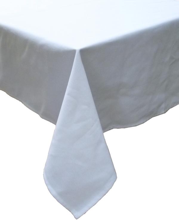 Square Table Cloth [150 Cm X 150 Cm 2 Pieces Set: (MAJEST White)