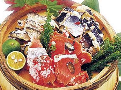 【送料無料】紅鮭飯寿し400g「※沖縄へお届けの場合は別途送料880円がかかります。」