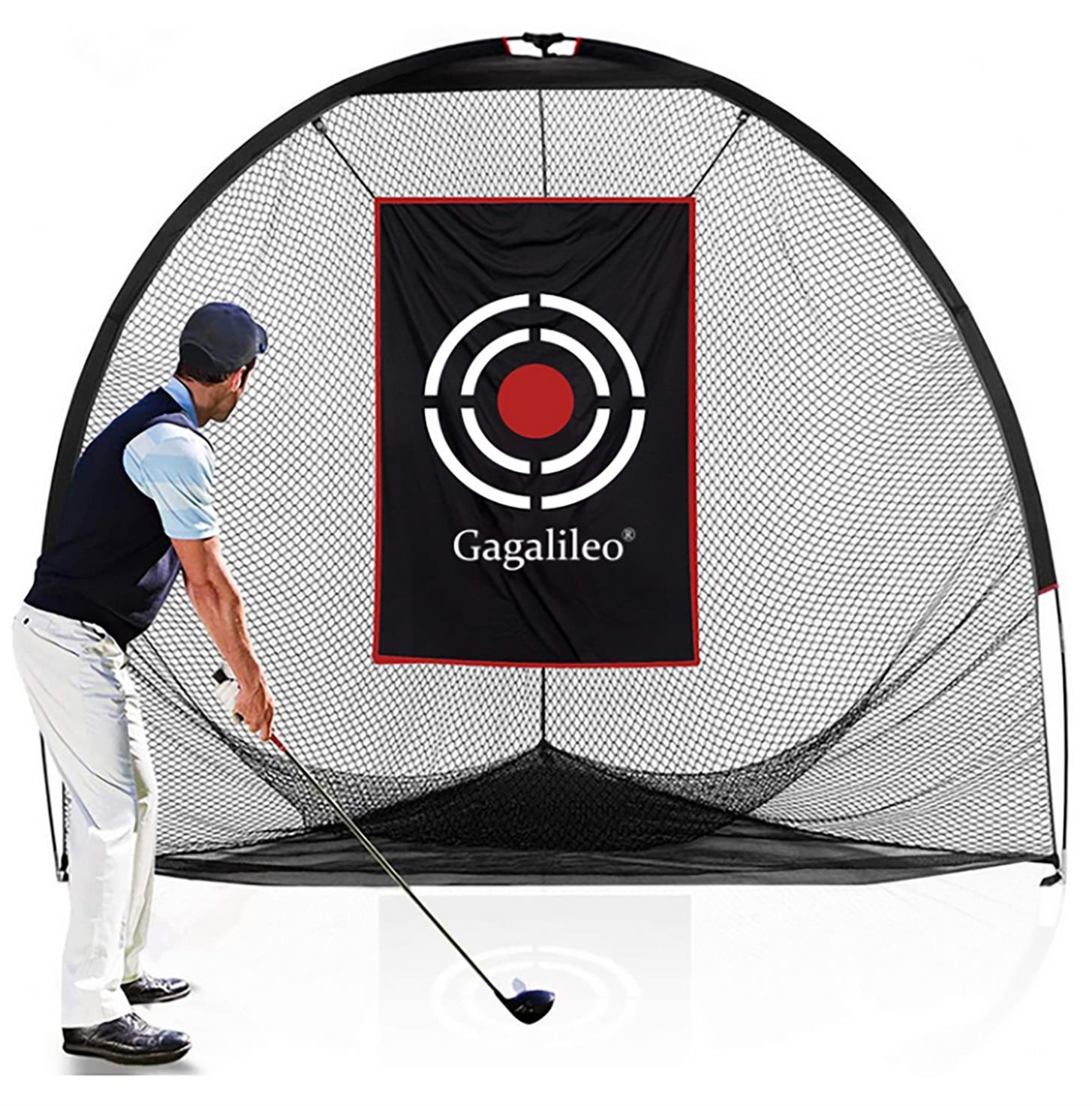 ゴルフネット トレーニングネット 三角打撃ネット 誕生日プレゼント 屋内屋外ゴルフ練習場 一年間の安心購入 2.4mx2.1mx2.1m キャリーバッグとターゲット付 希少