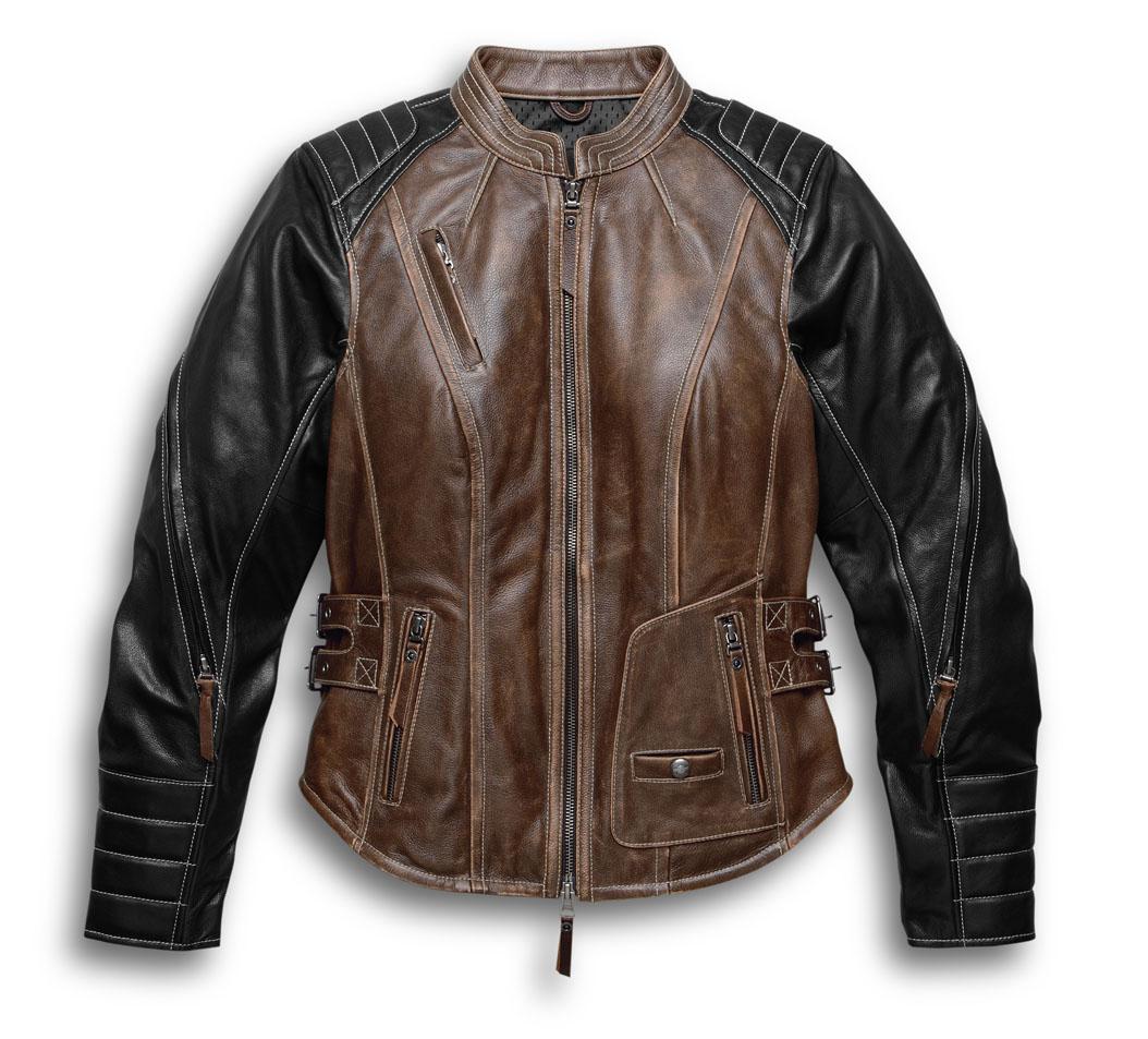 【純正品】HARLEY-DAVIDSON◆ハーレーダビッドソン・Women's Capitol Leather Jacket・キャピトル レザージャケット・革ジャン・ライディングジャケット[牛革]98105-16VW
